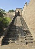 Oude de stadsmuur van Pingyao Stock Foto