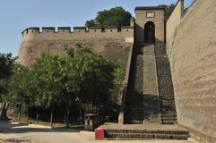 Oude de stadsmuur van Pingyao Stock Afbeelding