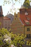 Oude de stadsstraat van Riga Architectuur in Riga letland stock afbeelding