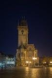 Oude de Stadsvierkant en Stad Hall Tower van Praag Stock Foto's