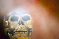 Oude de steenachtergrond van de schedel natuurlijke rook Royalty-vrije Stock Foto