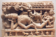 Oude de steengravure van India Stock Afbeelding