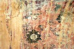 Oude de textuurachtergrond van het kunstmuurschilderij stock afbeelding