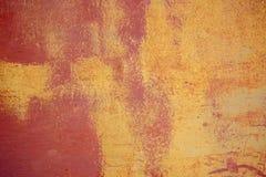 Oude de textuurachtergrond van de metaalmuur met krassen en barsten royalty-vrije stock fotografie