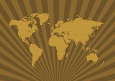 Oude de wereldkaart van het patroon - Royalty-vrije Stock Afbeeldingen