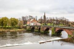 Oude Dee Bridge, Chester royalty-vrije stock afbeeldingen