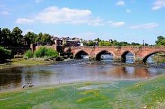 Oude Dee Bridge, Chester royalty-vrije stock afbeelding