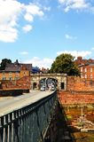 Oude Dee Bridge, Chester stock fotografie