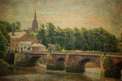 Oude Dee Bridge chester engeland stock foto's