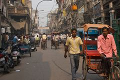 Oude Dehli, India - November 2011 Stock Foto's