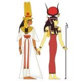 Oude deities van Egypte Royalty-vrije Stock Fotografie