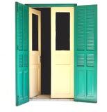 Oude deur 01 Royalty-vrije Stock Afbeelding