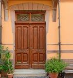 Oude deur in Bosa Royalty-vrije Stock Foto's