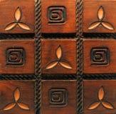 Oude deur. detail Stock Foto's