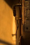 Oude deur en sleutel Stock Foto