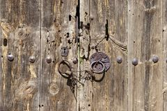 Oude deur, kunst, antiquiteit royalty-vrije stock afbeelding