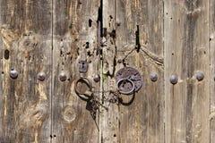 Oude deur, kunst, antiquiteit stock afbeelding