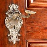 Oude deur met handvat Stock Foto's