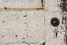Oude deur met sleutelgat Stock Afbeeldingen