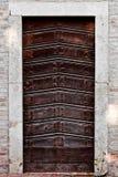 Oude deur, Rome, Italië Royalty-vrije Stock Foto's