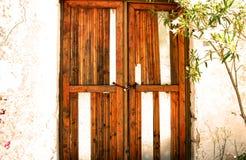 Oude deur in Ruïne royalty-vrije stock foto's