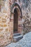 Oude deur in Siguenza, Guadalajara Royalty-vrije Stock Foto