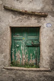 Oude deur van een kelder het Italiaans Royalty-vrije Stock Foto