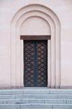 Oude deuren en treden. Stock Afbeeldingen
