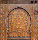 Oude deuren, Marokko Stock Foto's