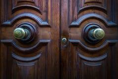 Oude deuren van de stad van Valletta malta royalty-vrije stock fotografie