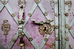 Oude deurkruk Stock Fotografie