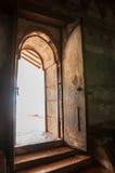 Oude deuropening aan de Tempel van het Hol Dambulla in Sri Lanka Stock Afbeeldingen