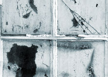 Oude deurvensters royalty-vrije stock afbeelding