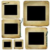 Oude dia's voor foto op geïsoleerde achtergrond Royalty-vrije Stock Foto