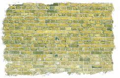 Oude dichte omhooggaand van de bakstenen muurtextuur Stock Foto's