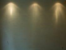3 oude die achtergrond door zoeklichten wordt verlicht Stock Afbeeldingen