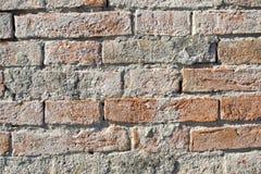 Oude die bakstenen muur als achtergrondtextuur wordt gebruikt Royalty-vrije Stock Fotografie