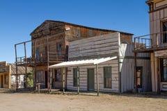 Oude die de Stadsfilm van Wilde Westennen in Arizona wordt geplaatst Stock Afbeelding