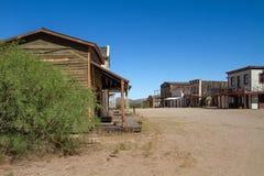 Oude die de Stadsfilm van Wilde Westennen in Arizona wordt geplaatst Stock Foto