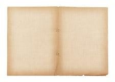 oude die document en linnentextuur op witte achtergrond, het knippen weg wordt geïsoleerd Royalty-vrije Stock Afbeeldingen