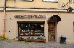 Oude die gebouwen in Vyborg, Rusland worden gevestigd Royalty-vrije Stock Afbeelding