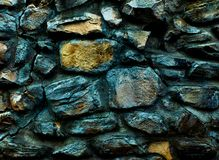 Oude die kloostermuur van grote rotsen 3d textuur wordt gemaakt, achtergrond Stock Fotografie
