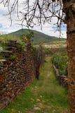 Oude die muur door Wari mensen wordt gebouwd Royalty-vrije Stock Fotografie