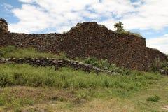 Oude die muur door Wari mensen wordt gebouwd Stock Afbeelding