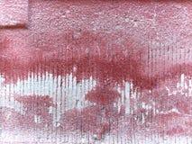 Oude die muur in rood wordt geschilderd royalty-vrije stock afbeelding