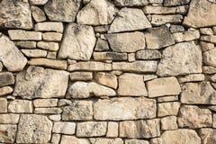 Oude die Muur van Stenen wordt gemaakt Stock Foto