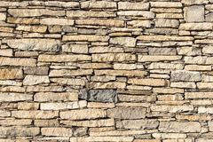 Oude die Muur van Stenen wordt gemaakt Stock Foto's