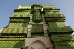 Oude die stad in Jeddah, Saudi-Arabië als ` Historische Jeddah ` wordt bekend Oude en erfenisgebouwen en wegen in Jeddah In de sc Stock Foto's