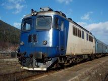 Oude diesel elektrische locomotief Royalty-vrije Stock Foto's