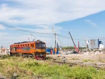 Oude diesel elektrische locomotief Royalty-vrije Stock Afbeelding